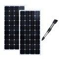 Pannello Solare 12v 150w монокристаллическая 2 шт солнечные панели солнечная домашняя система для дома и дома Placa Солнечная Fotovoltaica 300W караван