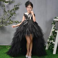 Princess Girls Dress Girls Party Birthday Stunning Black Swan Wedding Clothing Ball Gown Kids Christmas Spring Autumn Dress 4 12