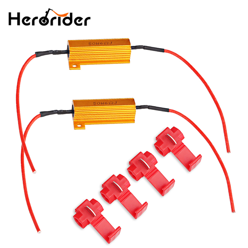 Motorcycle Accessories & Parts Original 25w 6.8ohm Turn Signal Indicator Load Resistor Flash Blinker For Fix Led Fast Flash Motorcycle Motorbike Accessories Alloy