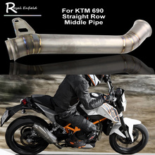2017 Case For KTM 690 Titanium Alloy Motorcycle Header Exhaust Middle Pipe Straight row