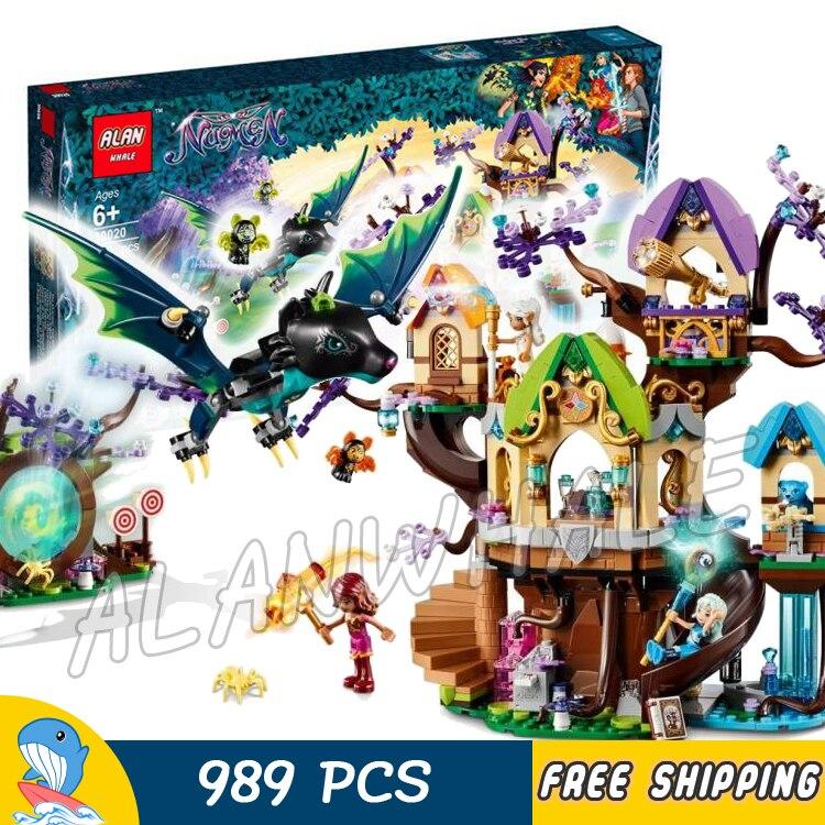 989 pcs Elfes Elven Étoiles Arbre Bat Attaque Portail Noctura Le Mal Chauve-Souris Modèle Blocs de Construction Pour Enfants Jouets Briques Compatible avec Lego