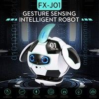 KUBO Ball Robot AI Robotic Sensing Gesture Companion Robot Intelligent Robot Dancing Singing Toys For Children Gift