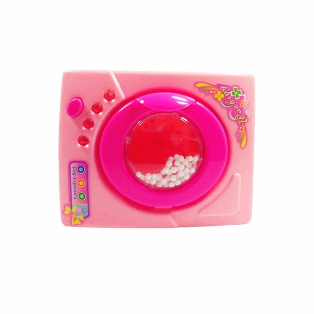 Plastic Dollhouse Miniature Furniture Children Simulation Toys Mini Electric Washing Machine Pretend Play Toys For Kids Girls 3