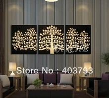 modern abstract fashion oil painting on canvas for home decoration Golden banyan tree  free shipping
