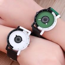 New Fashion Couples watch Women Men Casual Leather Wrist Watches Clock Ladies Creative Quartz Watch montre femme 2019 Gifts