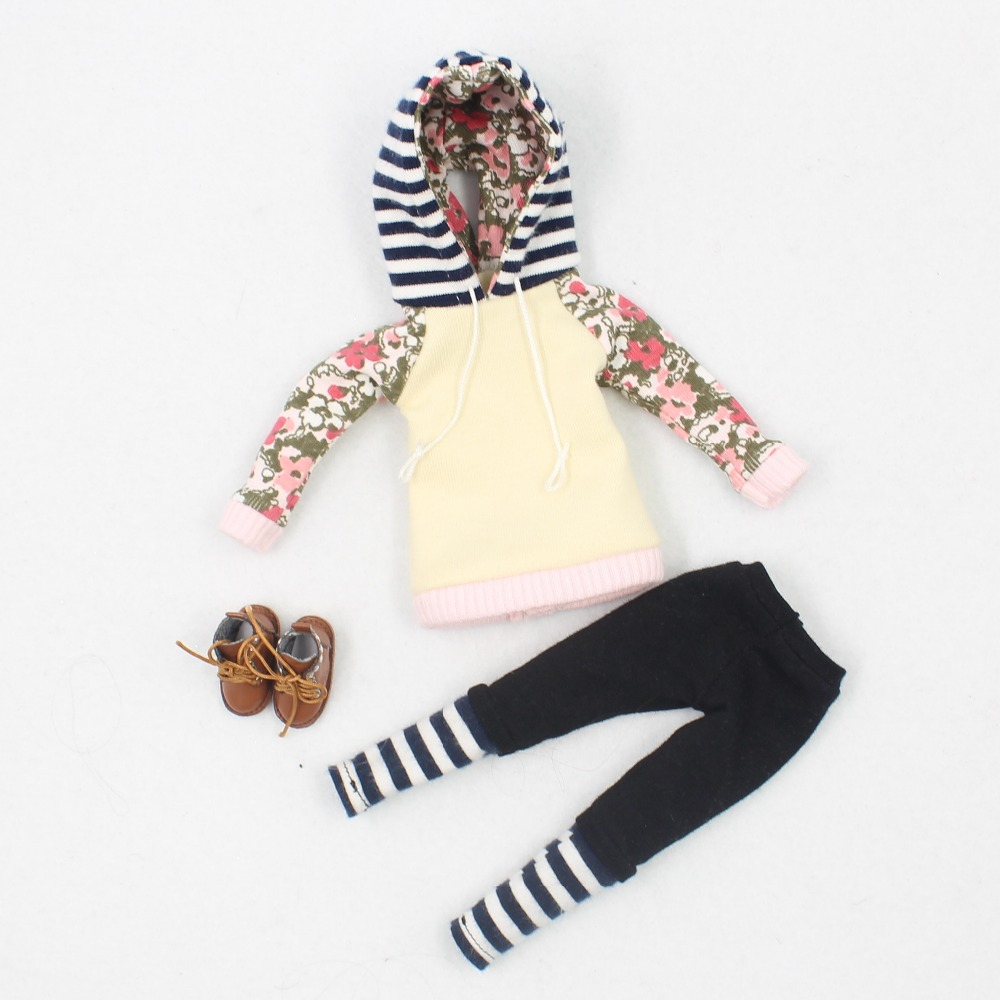 Neo Blythe Doll Hoodie & Pant With Shoes 8