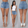 2016 Women Hole shorts Casual Solid new style Fashion hot sexy girl Skinny Regular denim Shorts