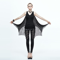 Devil Fashion Punk Woman Dresses Party Sheath Dresses V Neck Vest Spider Pattern Shawl Short Dresses