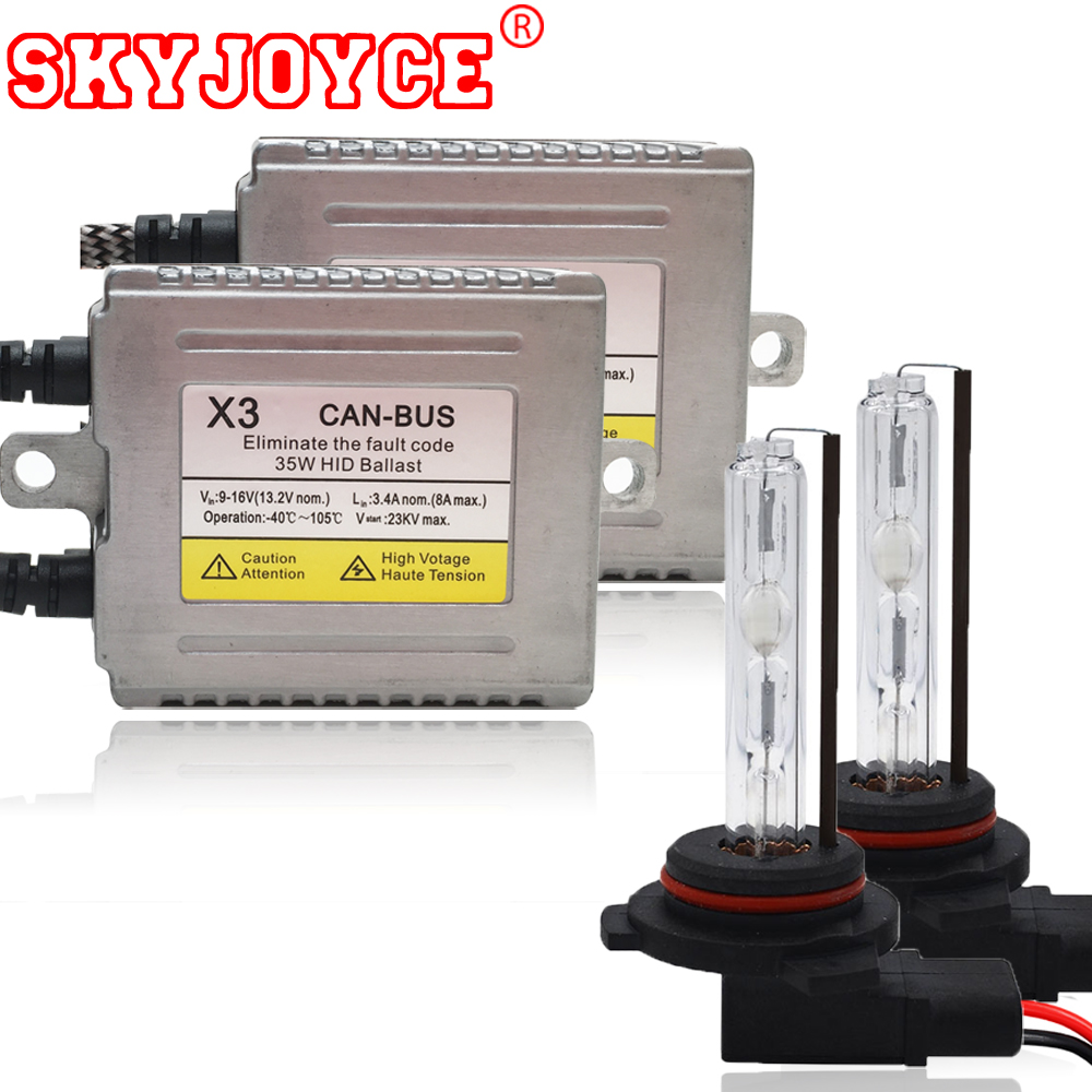 SKYJOYCE 35W 12V error free canbus xenon hid HIR2 9012 hid kits with HID xenon canceller ballasts HIR2 hid kit 9012 4300K-8000K цена