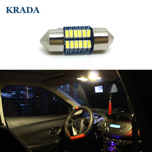 KRADA 10x Car Festoon C5W 28MM Interior White LED Canbus Bulbs for Toyota Corolla Camry Nissan Honda Mitsubishi VW Opel citroen