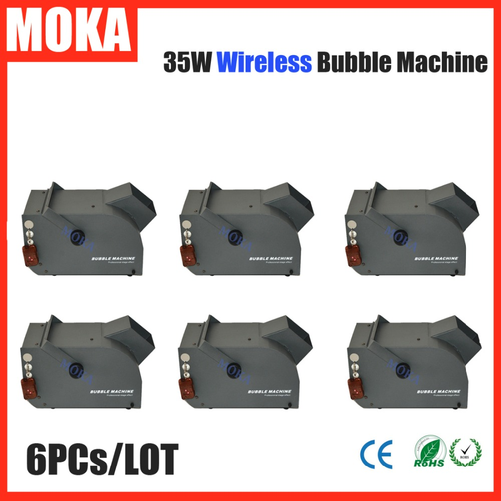 6 Pcs/lot Mini Remote Bubble Machine wireless 35w bubble blower machine Stage wedding decoration Single Impeller Wind Blower 60w mini bubble machine stage bubble machine electronic remote control effect wedding soap bubble blower machine 4pcs lot