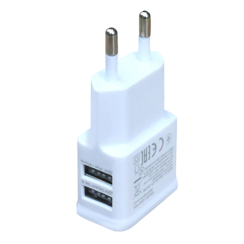 2-Port 5V 2.1A Smart Travel Universal USB Charger Adapter Portable EU US travel fast charger power plug for phones tablet 7.12