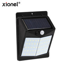 Xionel Solar Lights Outdoor 50LED Super Bright Motion Sensor Lights Waterproof Wall Light for Patio, Pathway, Deck, Yard, Garden(China)