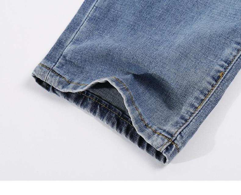 2020 Jeans Men Fashion Business Casual Straight Slim Fit Ultrathin Breathable Stretch Retro Blue Summer Denim Pants Plus Size 40 18