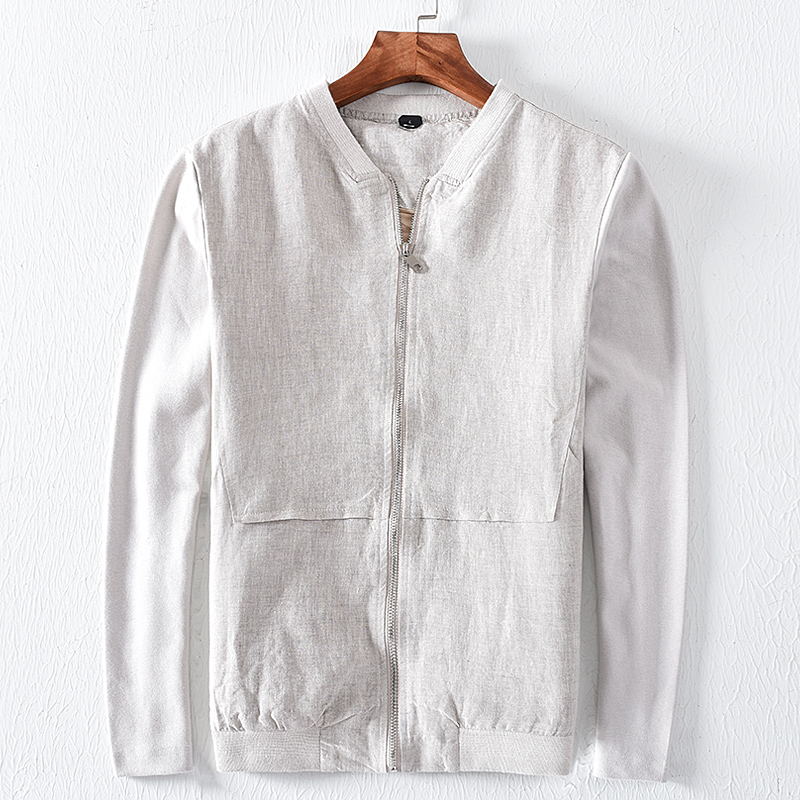 2018 Autumn And Winter New Men S Linen Jacket Casual