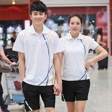 2016 New Arrival Badminton Shirt and Shorts Men Women Tennis Set Ping Pong Team Sports Shirts