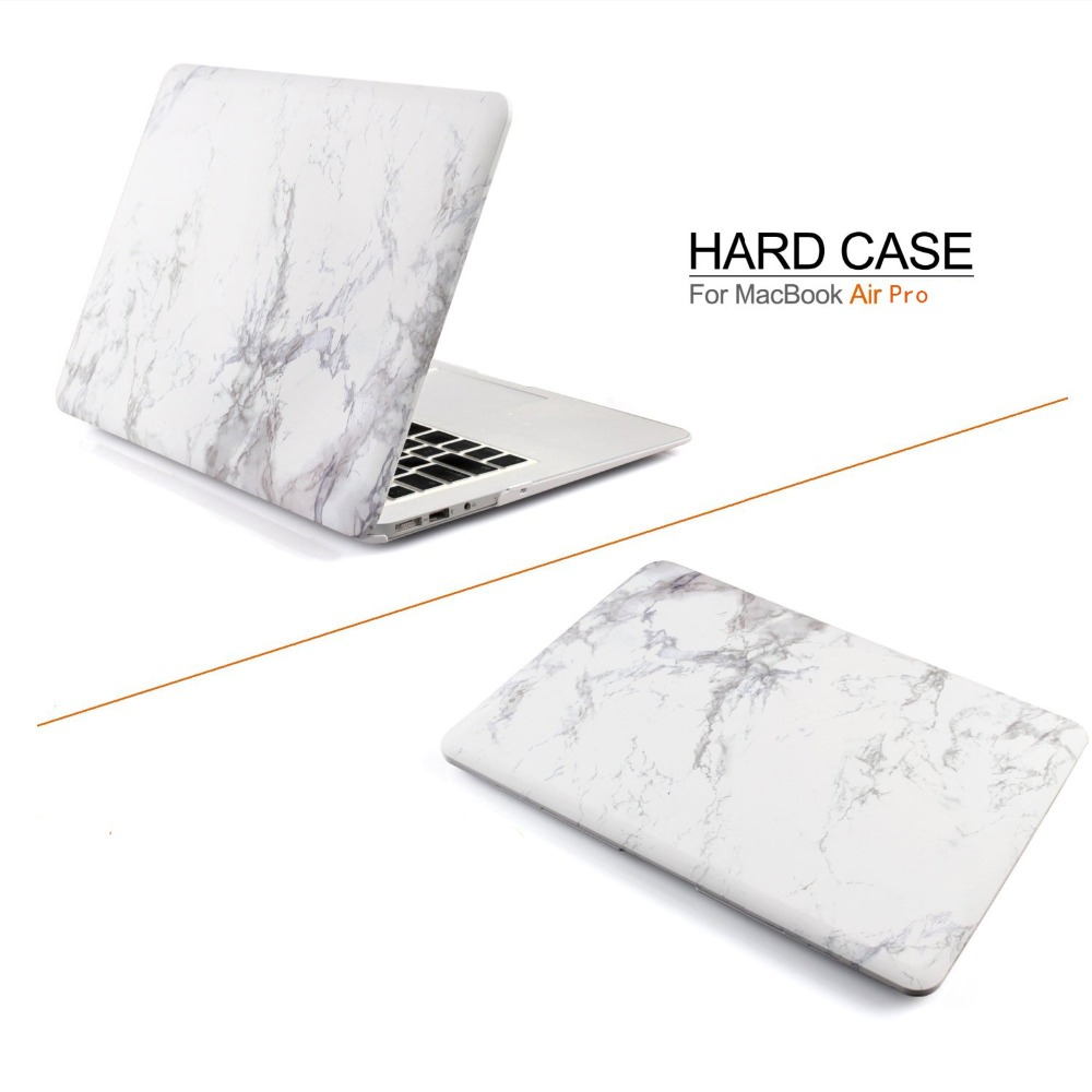 Marble Pattern Laptop Case For Apple MacBook Air Pro Retina 11 12 13 15 For Mac Book 2016 2017 New Pro 13 15 Inch With Touch Bar