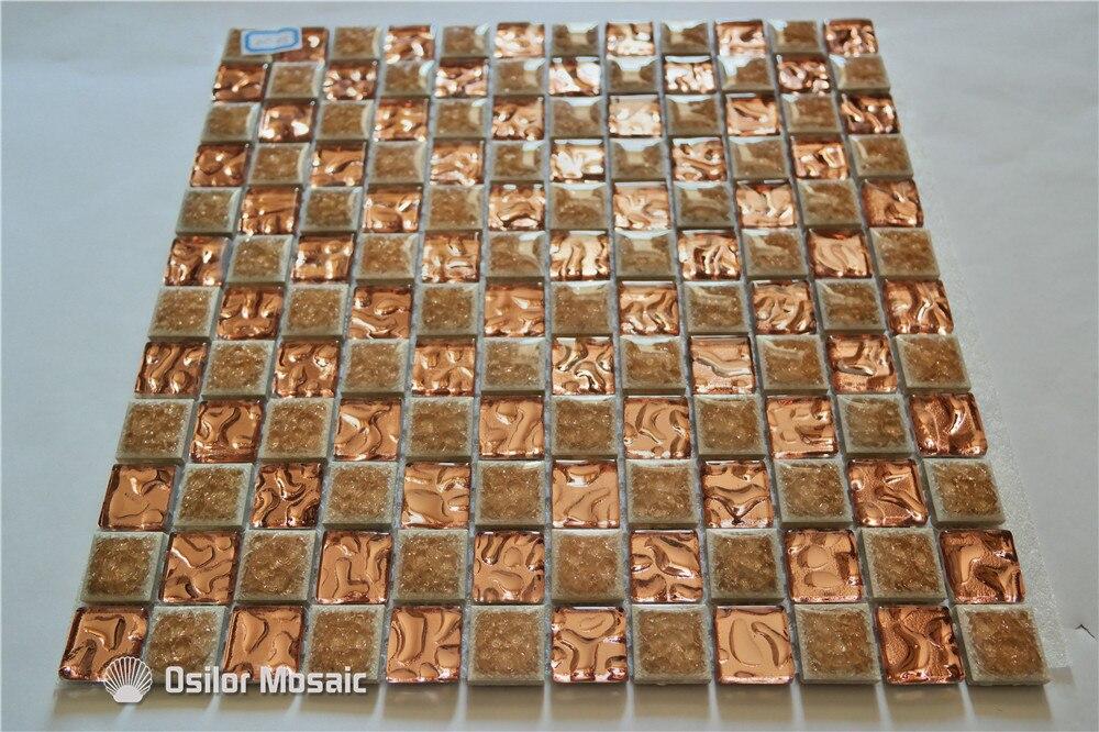 Gouden Mozaiek Tegels : Gratis verzending gouden keramische mozaïek tegel glasmozaïek