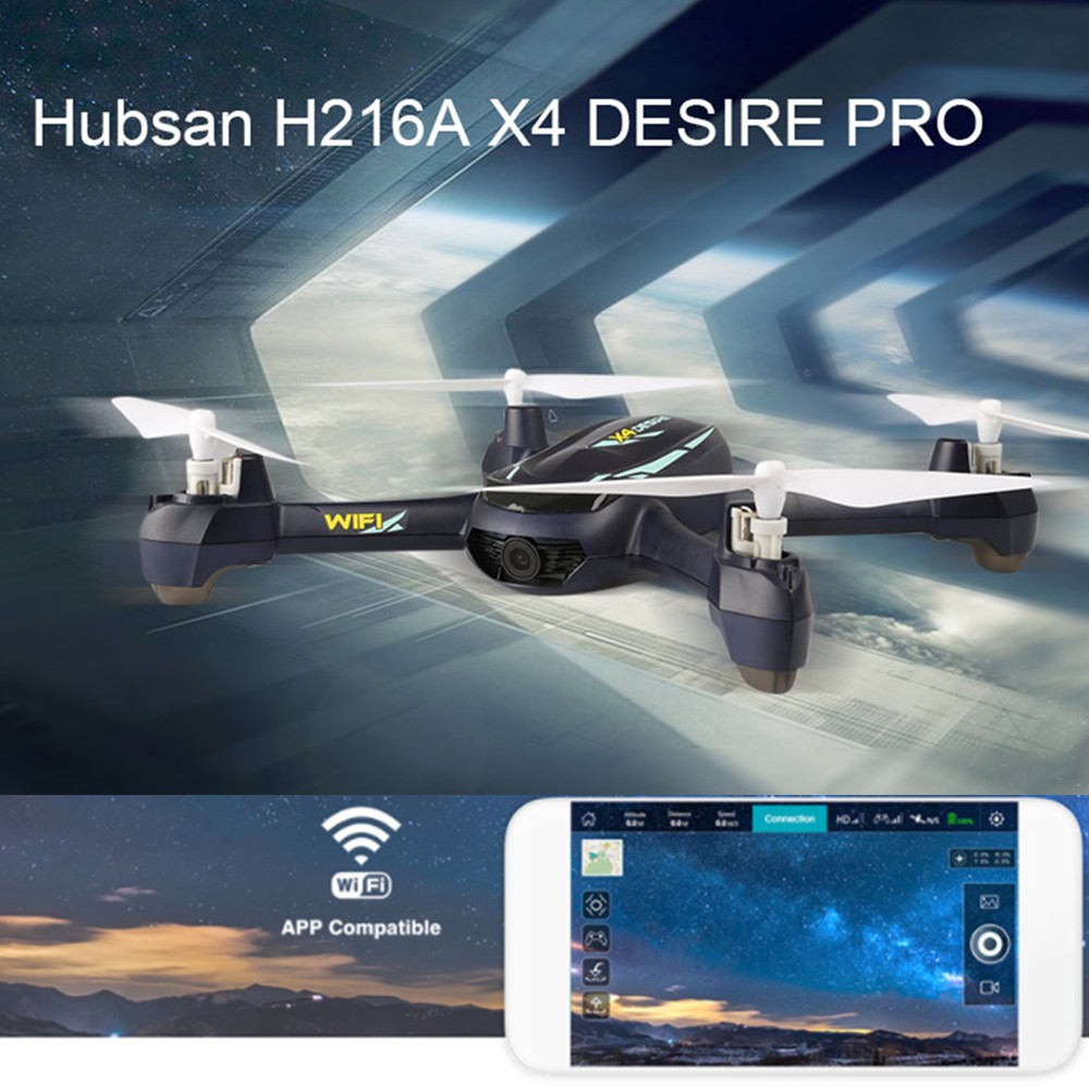 Hubsan RC Drone Helicopter Wifi Camera H216A Altitude-Hold-Waypoints Remote-Control Headless