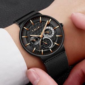 Image 4 - Relógios dos homens lige moda topo marca de luxo relógio de quartzo masculino casual malha fina data aço à prova dwaterproof água relógio esporte relogio masculino