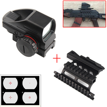 1x22x33 Compact Reflex Red Green Dot Sight scope 4 Reticle Sight with AK Serie Rail Side Mount for Hunting Airsoft RL5-0032 стоимость