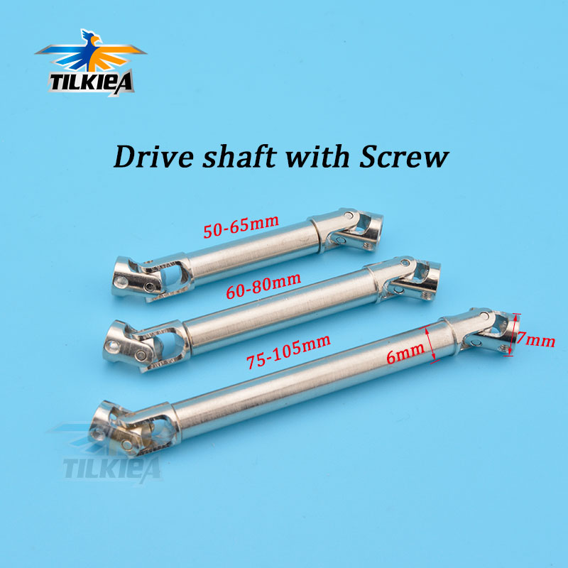 HD Stainless Steel Universal Drive Shaft 70mm-80mm for RC Crawlers Trucks D90