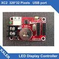 China XC2 Kaler levou controlador levou cartão de controle para uma única e dupla cor 32x320 pixels suporte 2 pcs p10 display led painéis altura