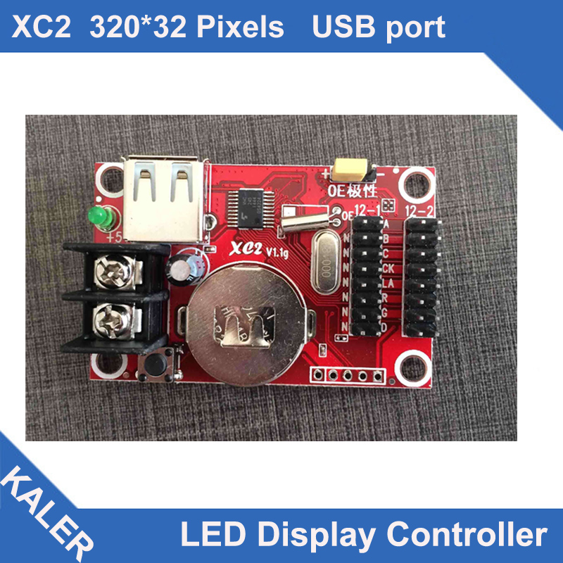 Kaler Led Controller XC2 Led Control Card For P10 Single Color 32x320 Pixel Support 2 Pcs P10 Led Display Panels In Height