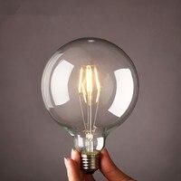 Retro Vintage E27 LED Light Bulb Sapphire Chip G80 G95 LED Edison Bulbs Sapphire Wick Transparent
