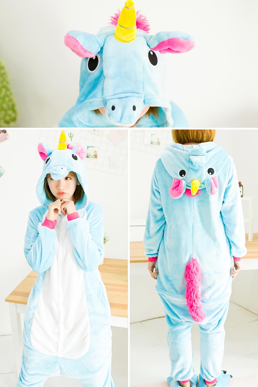 HTB1UsD2SXXXXXbMaXXXq6xXFXXX1 - Pink Unicorn Pajamas Sets Flannel Pajamas Winter Nightie Stitch Pyjamas for Women Adults