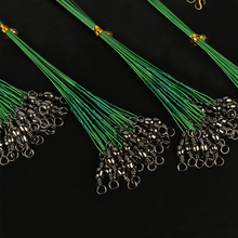 Goture 100Piece Fishing Trace Lures Braid Nylon Wire Leader  fishing line Leader Steel Wire Spinner 16/18/22/24/28cm