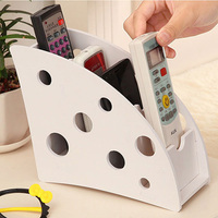 Creative DIY Wood Plastic Plate 3 Slot Desktop Storage Box For Remote Control Pencil Case Stationery