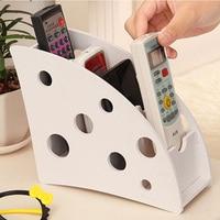 Creative DIY Wood Plastic Plate 3 Slot Desktop Storage Box For Remote Control Pencil Case Stationery