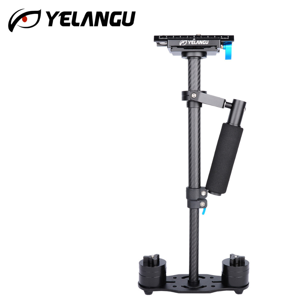YELANGU S40T Handheld 40cm Carbon Fiber Video Camera Stabilizer Steadicam Steadycam for Canon Nikon GoPro AEE DSLR Video Camera