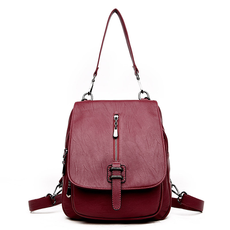 Women Leather Backpack School Bag Preppy Style Student Backpack for Teenage Girls Ladies Women Bag Package Female Daily Backpack