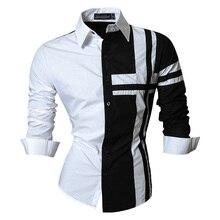 Jeansian אביב סתיו תכונות חולצות גברים מקרית ג ינס חולצה הגעה חדשה ארוך שרוול מקרית Slim Fit זכר חולצות Z014