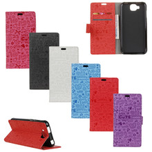 DOOGEE X9 Mini Phone Case Cartoon Graffiti Leather Wallet Protective Cover For Doogee X9 Mini 5.0inch