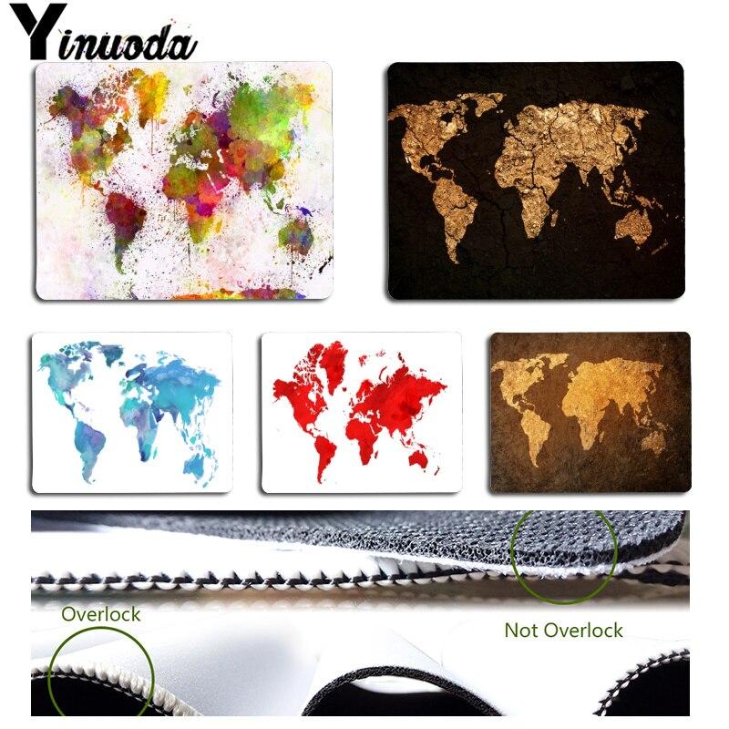 Yinuoda Одежда высшего качества красивая карта мира ноутбук игровой мыши коврик для мыши Размеры для 180x220x2 мм и 250x290x2 мм резиновая для мышей