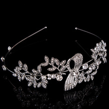 Nova jóia do cabelo da forma de metal barroco para as mulheres 2017 de prata Bow tie hairbands tiara de noiva acessórios para o cabelo
