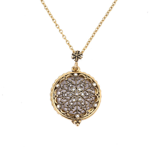 12 pcslot crystal snowflake necklace vintage color fashion 12 pcslot crystal snowflake necklace vintage color fashion jewellery pendant magnifier reading glass pendant aloadofball Gallery