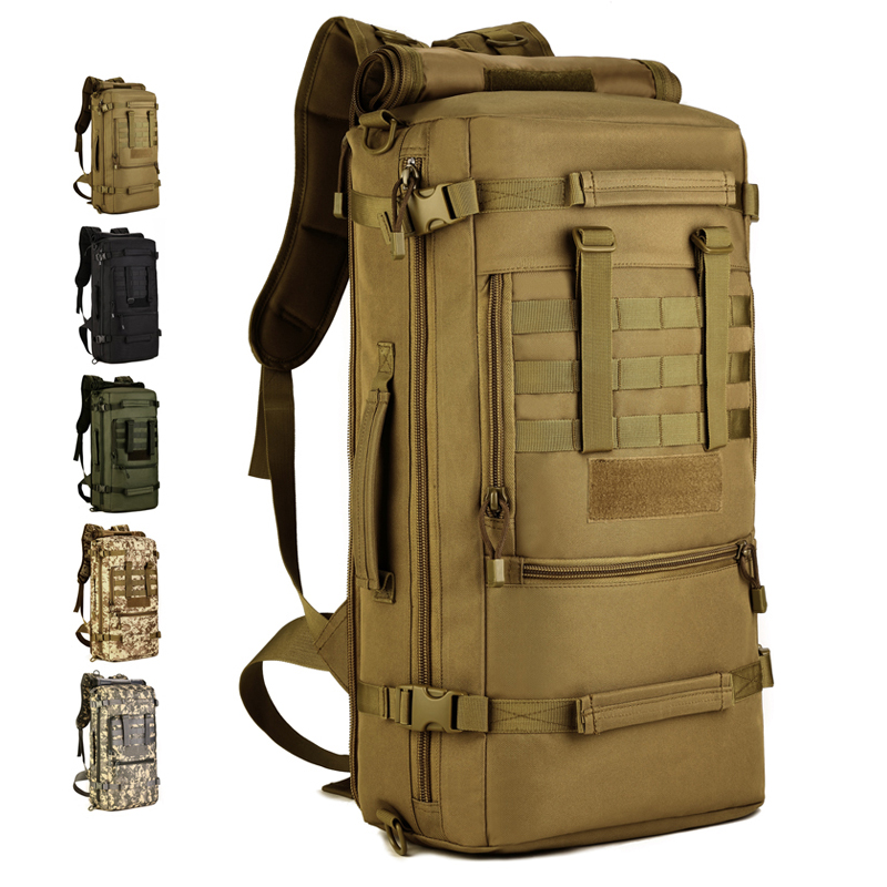 2018 New Hot Top Quality 50L Military Tactical Backpack Camping Bags Mountaineering Bag Mens Hiking Rucksack Travel Backpack2018 New Hot Top Quality 50L Military Tactical Backpack Camping Bags Mountaineering Bag Mens Hiking Rucksack Travel Backpack