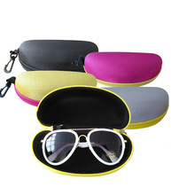 Hot sale colorful cover sunglasses case for women glasses box with lanyard zipper eyeglass cases for men 4 colors