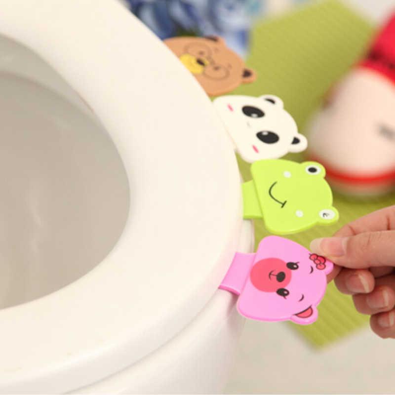 Милый мультфильм туалет крышка подъемное устройство ванная комната туалет ручка для крышки стикер портативный санитарно ручка сиденье для унитаза аксессуары