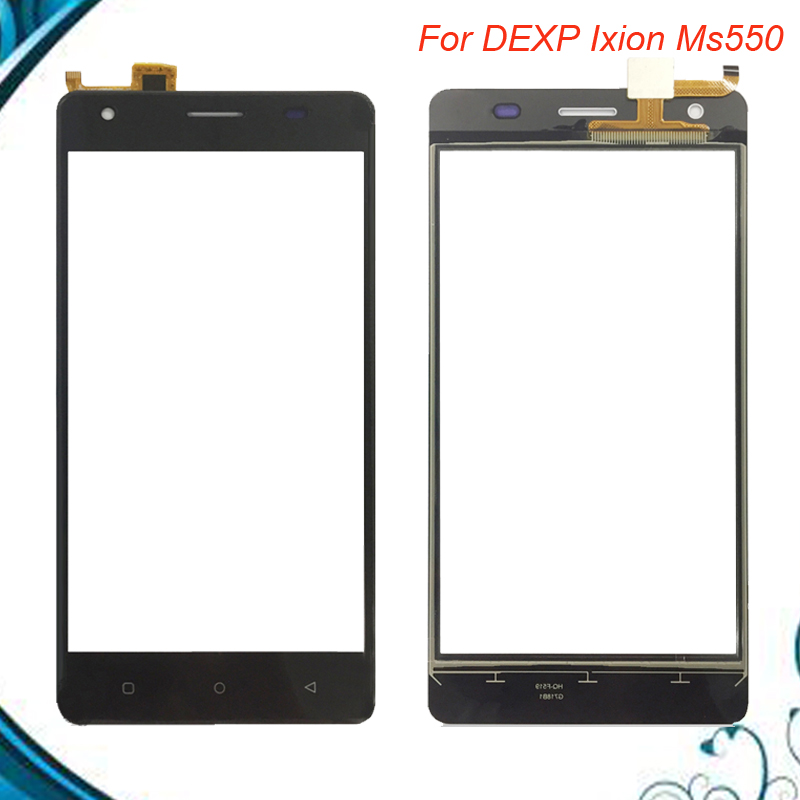 5.0inch For DEXP Ixion MS550 touch Screen Glass Sensor Panel Lens Glass Replacement For DEXP MS 550 Black White gold Color