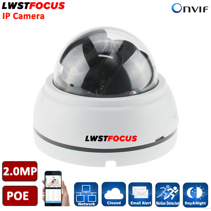 2MP H.264/265 HD 1080P IP Camera ONVIF Plastic IR Dome Camera Varifocal 2.8~12mm lens night vision Security Camera P2P cloud 5mp ip bullet camera h 264 h 265 compression 3 6mm fixed hd lens support poe p2p onvif