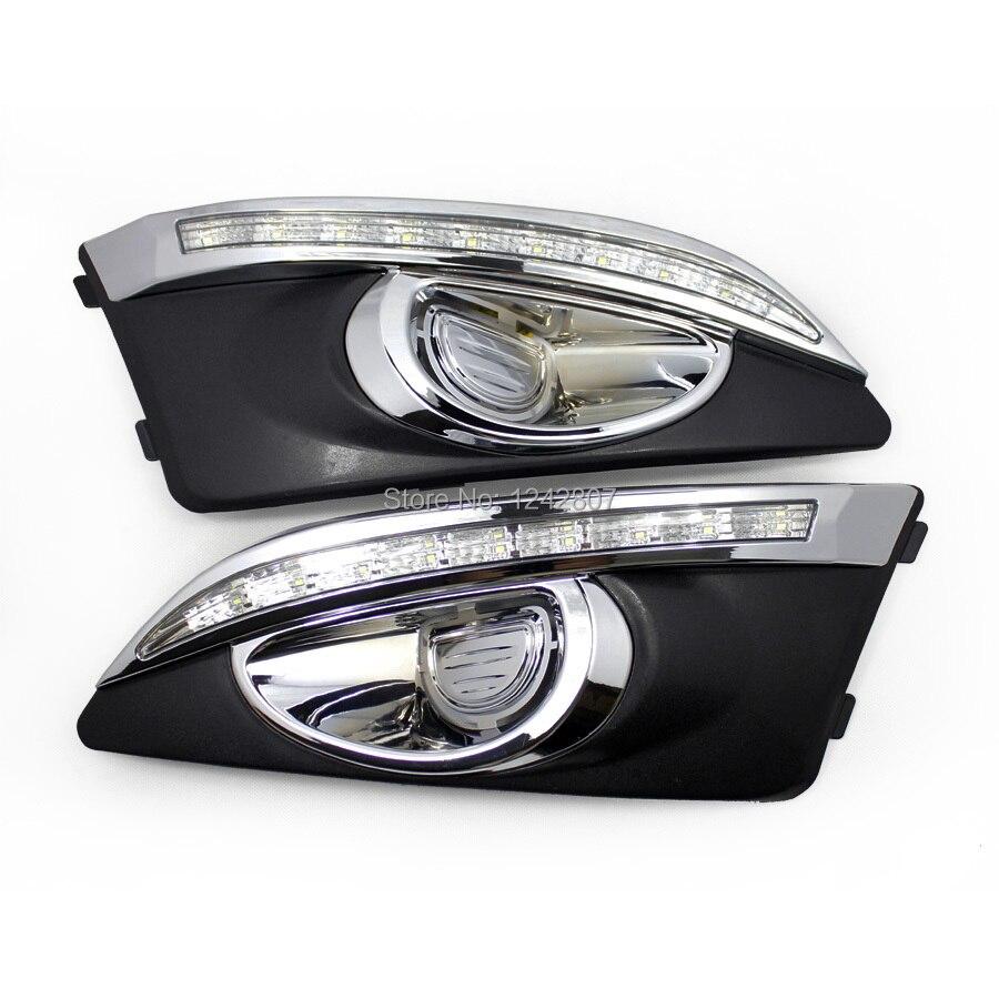 светодиодные DRL фары дневного света для Шевроле Авео Соник с регулятором освещения, плакировка версия