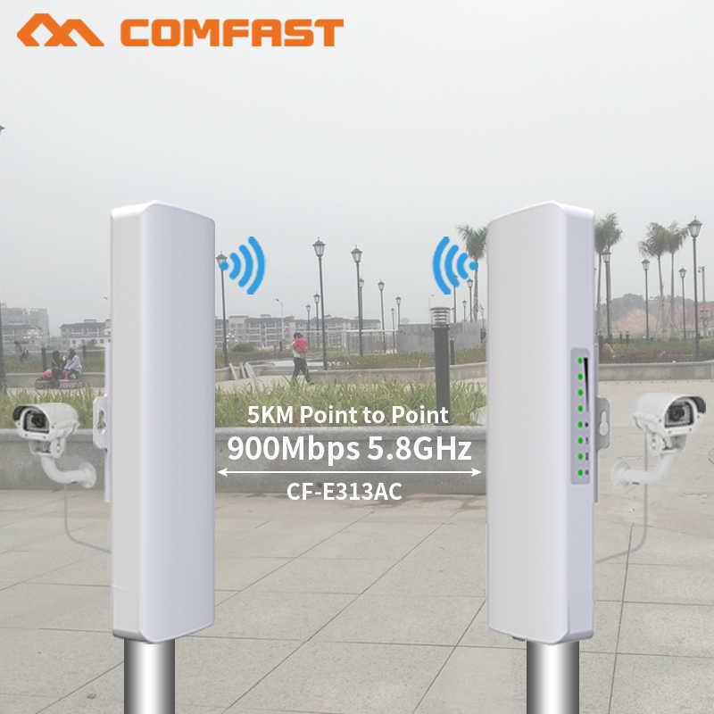 2 pcs 900 Mbps 5.8 Ghz חיצוני אלחוטי AP גשר 5 KM WIFI CPE גישה נקודת 12dBi WI-FI אנטנה Nanostation CPE COMFAST CF-E313AC