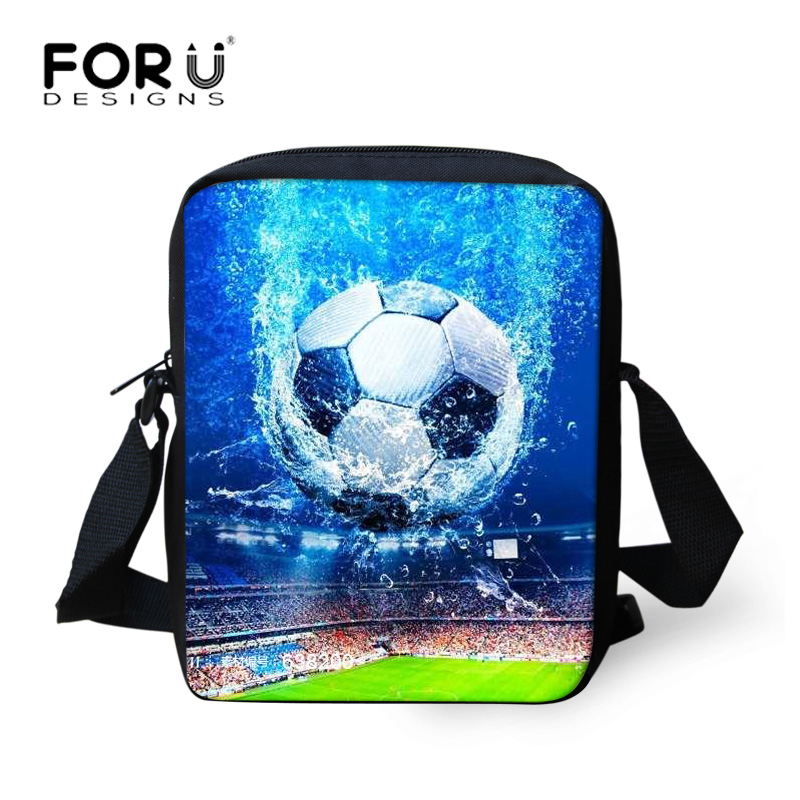 FORUDESIGNS Messenger Bags For Boys Men Shoulder Bags Crossbody Bag Children Foot Ball Printing Small Cross Body Bolsos Mujer