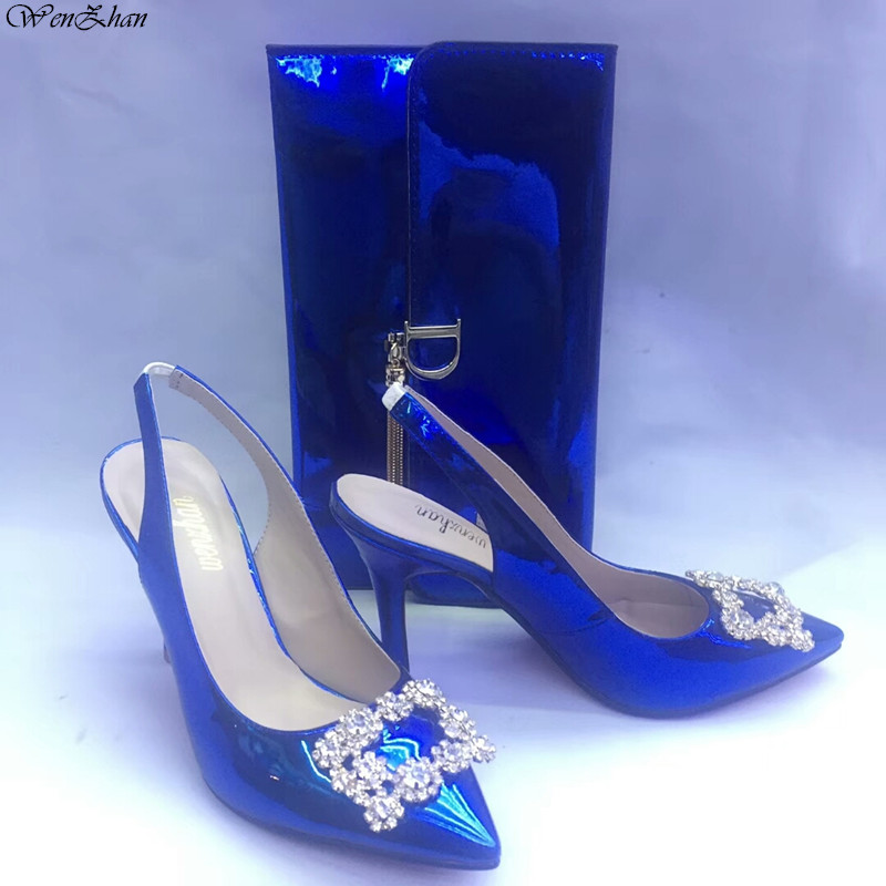 Босоножки Sweety Обувь на высоких каблуках с сумочкой, туфли-лодочки на тонком каблуке с острым носком матч Для женщин Gripesack для любого случая ...