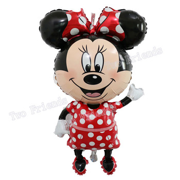 112cm Giant Mickey Minnie Mouse Balloon Cartoon Foil Birthday Party Balloon children Birthday Party Decorations kids Gift 2